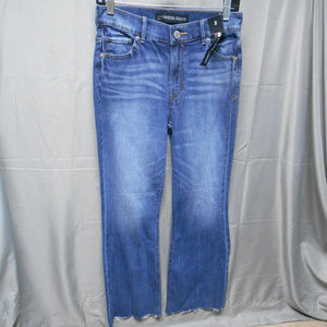 NWT Express extreme flare crop raw hem jeans 2